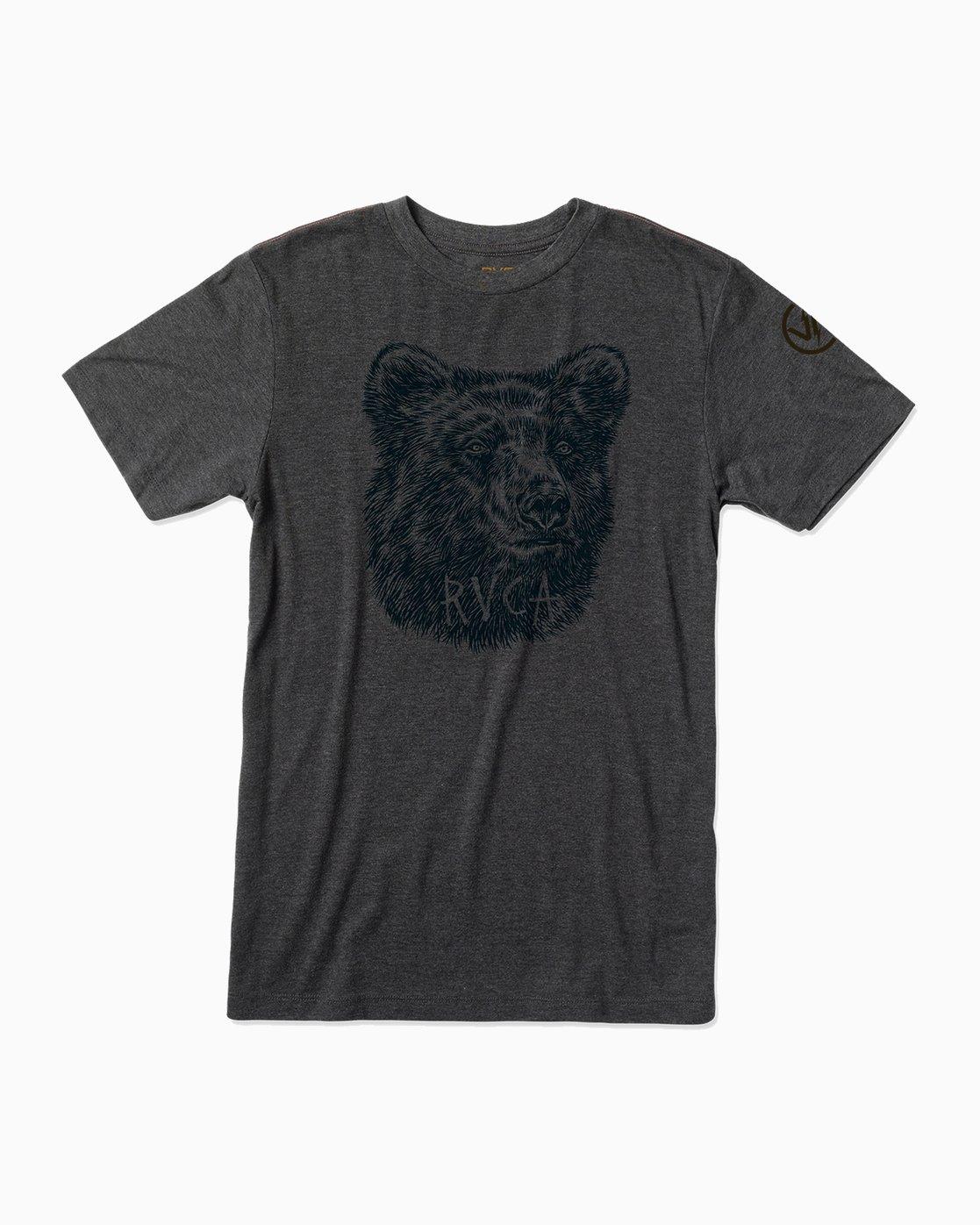 0 Ben Horton Grizzly T-Shirt Black M420500G RVCA