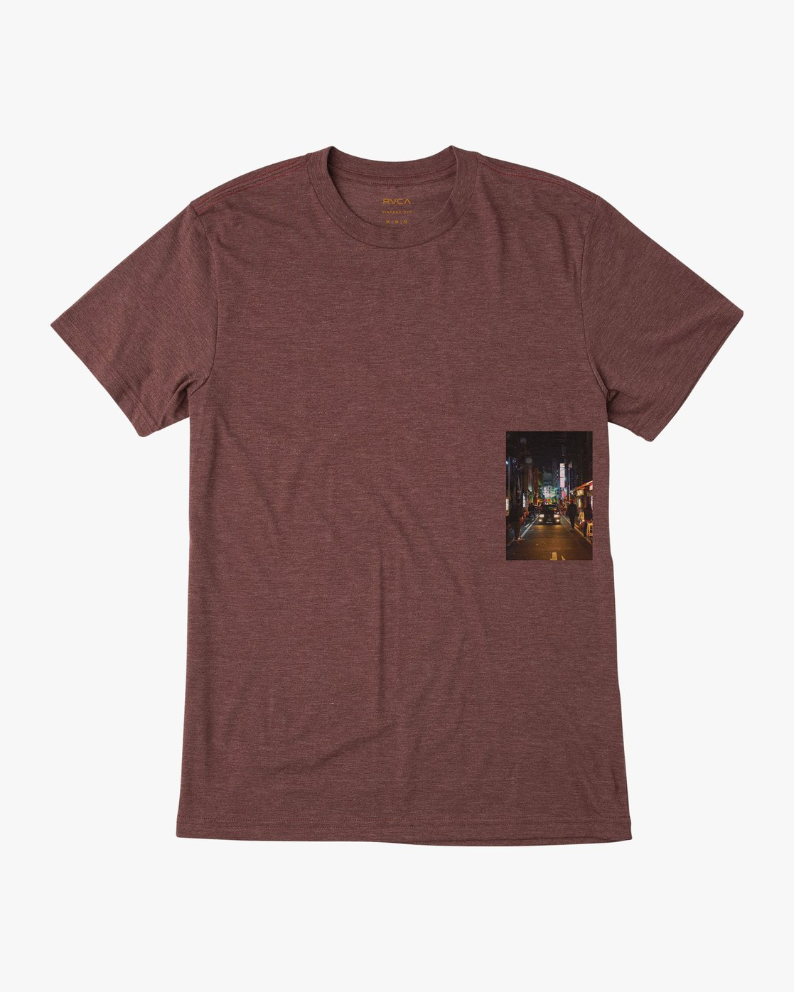 0 Curren Caples Photo T-Shirt Red M420QRCU RVCA
