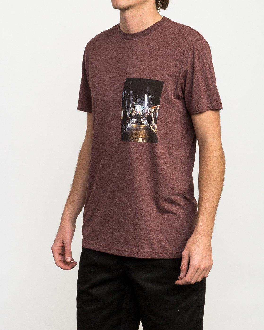 2 Curren Caples Photo T-Shirt Red M420QRCU RVCA