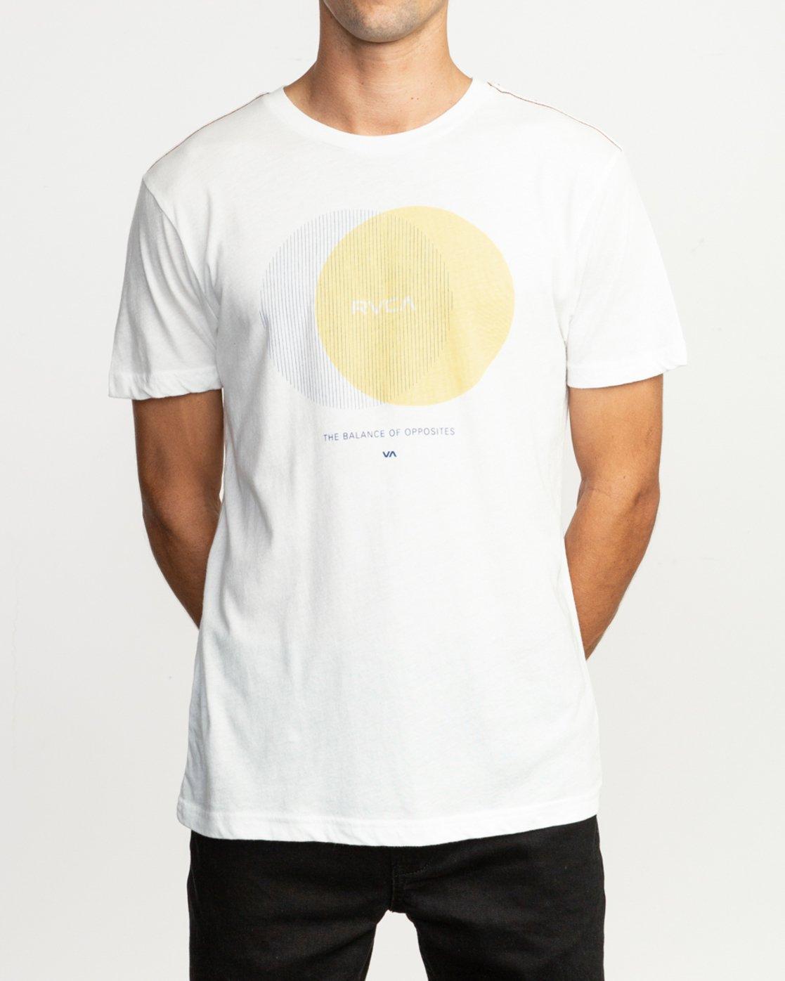 2 Eclipsed T-Shirt White M420TREC RVCA