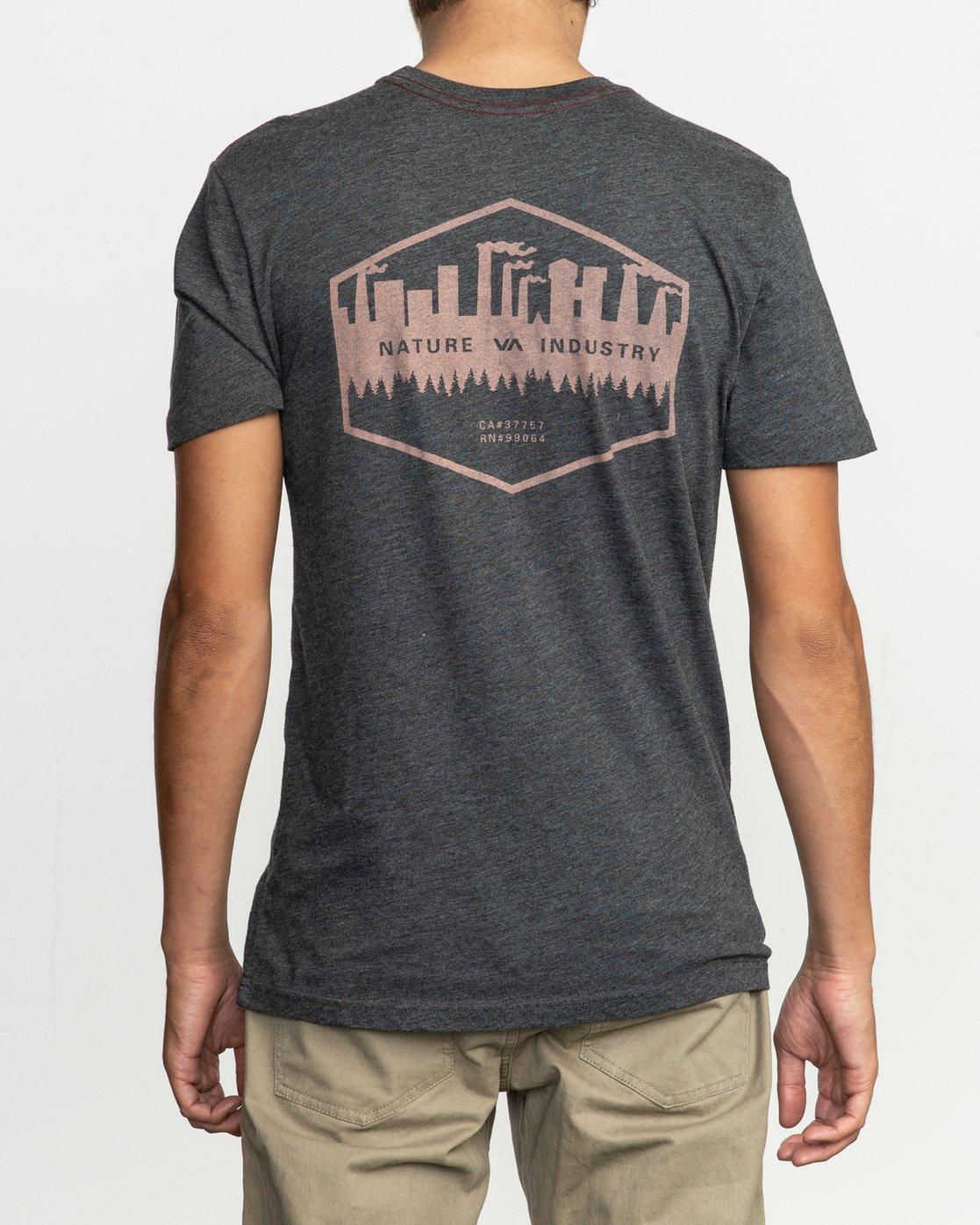 4 Industry T-Shirt Black M420TRIN RVCA