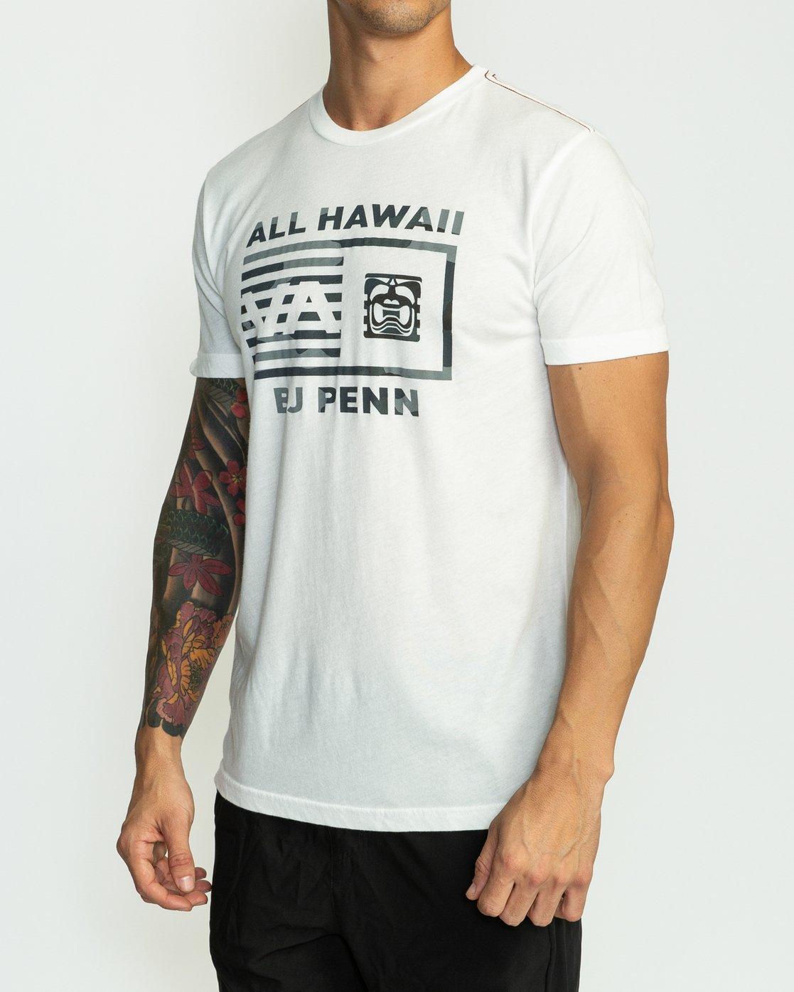 3 BJ Penn Box T-Shirt White M422SRPE RVCA