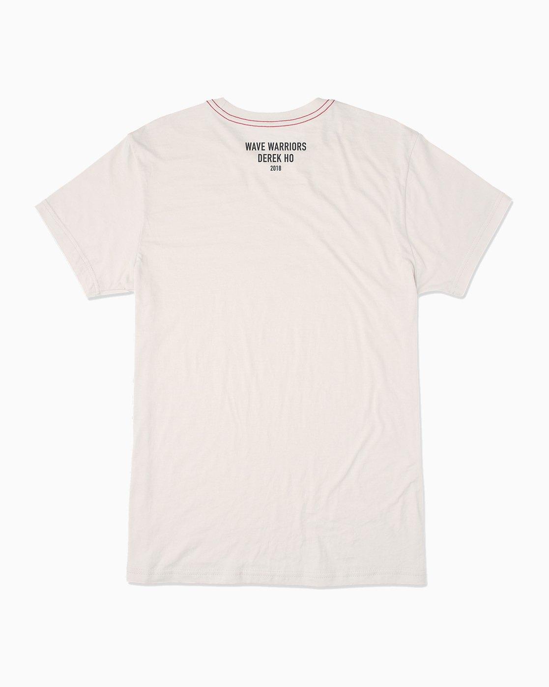 1 Wave Warriors T-Shirt White M422SRWW RVCA
