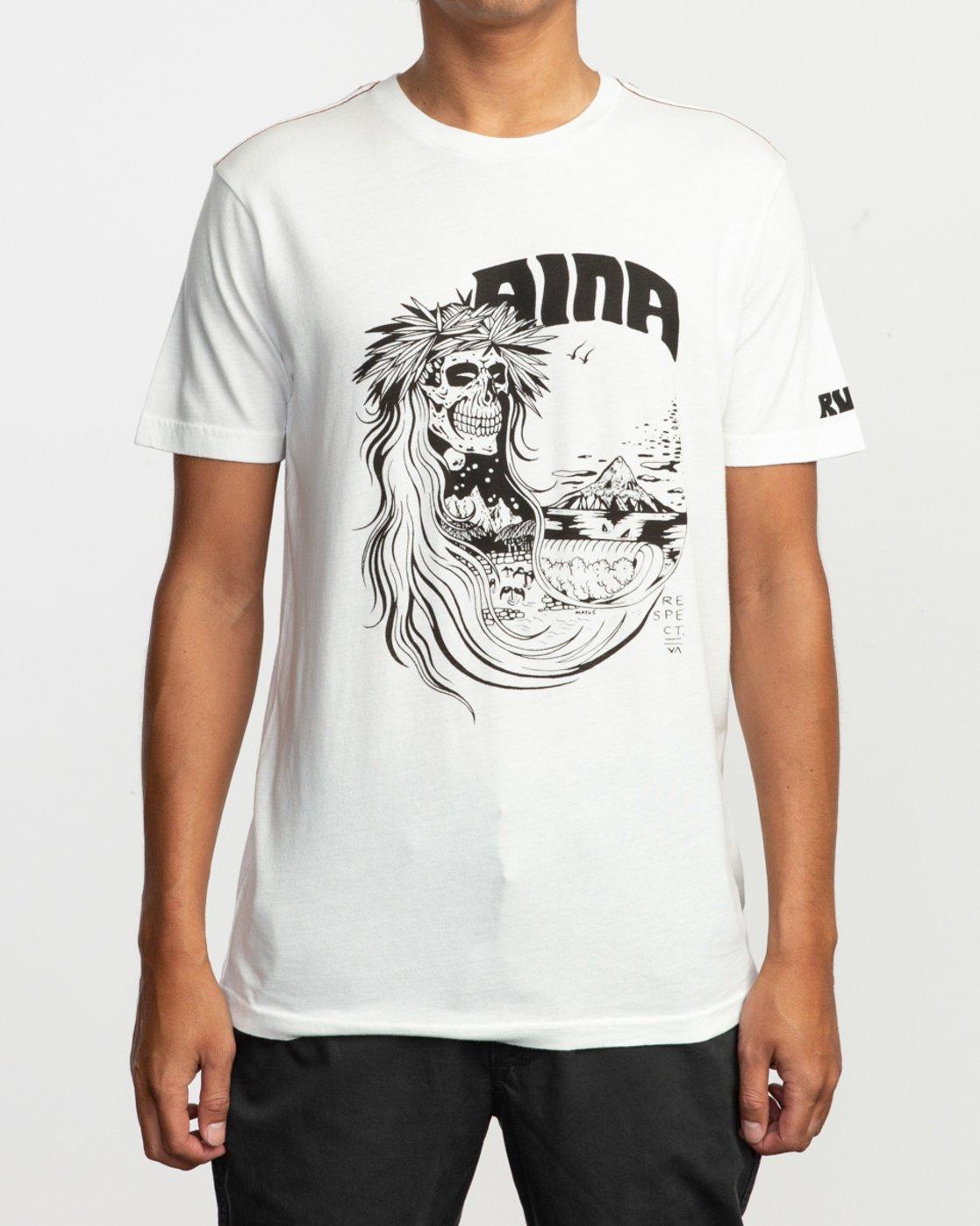 1 Alex Matus Aina T-Shirt White M430TRAS RVCA