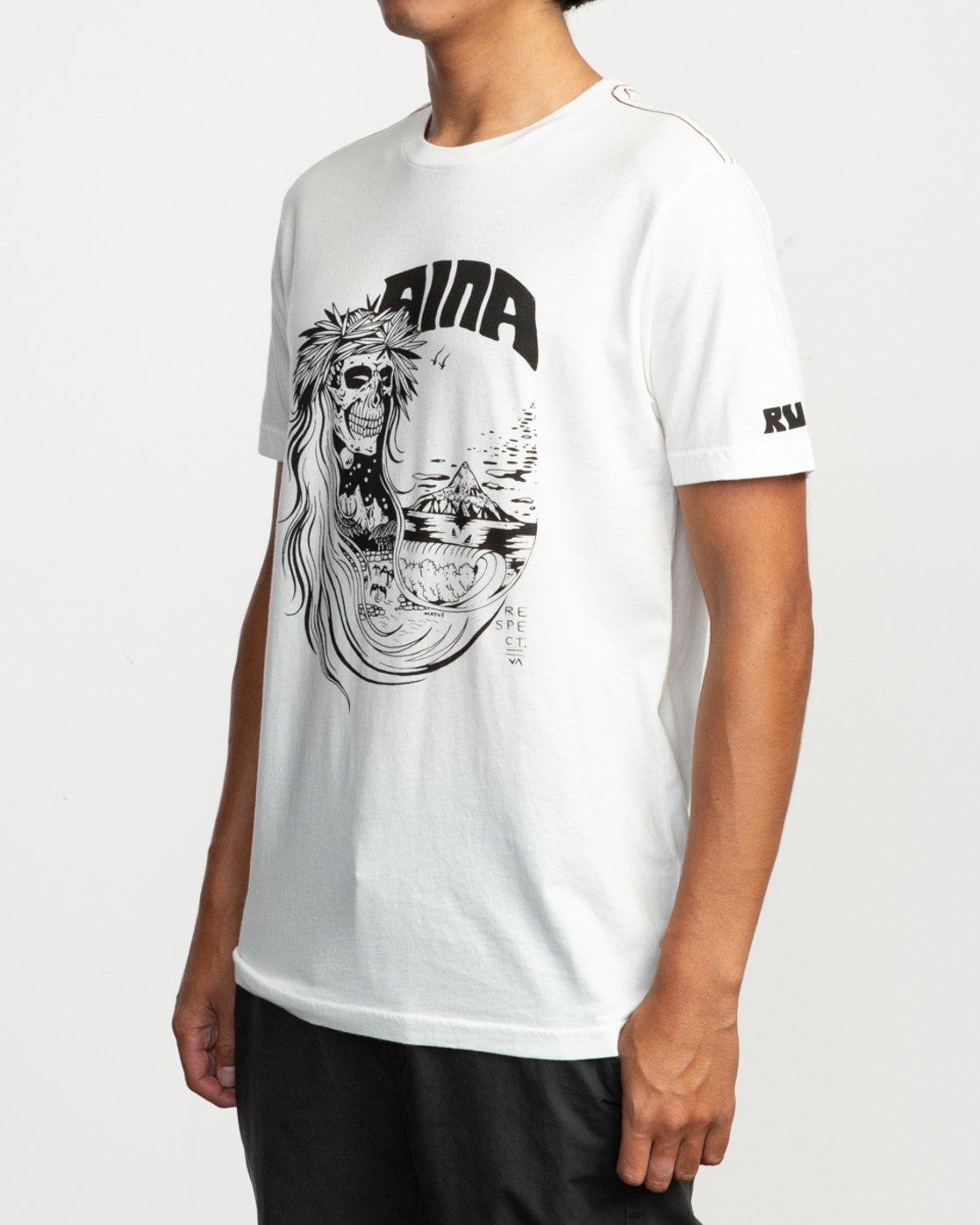 2 Alex Matus Aina T-Shirt White M430TRAS RVCA