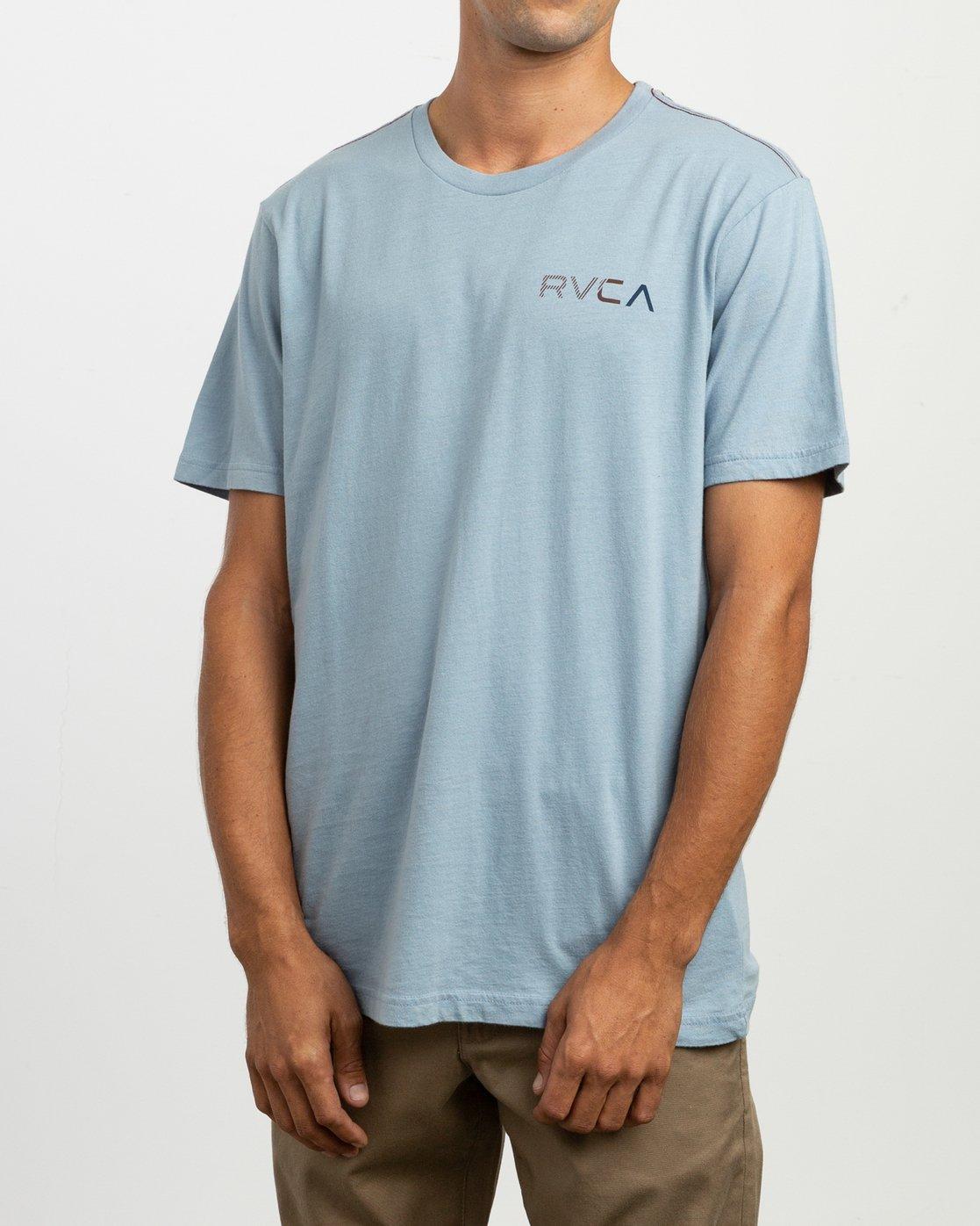 3 Blind Motors T-Shirt Blue M430TRBL RVCA