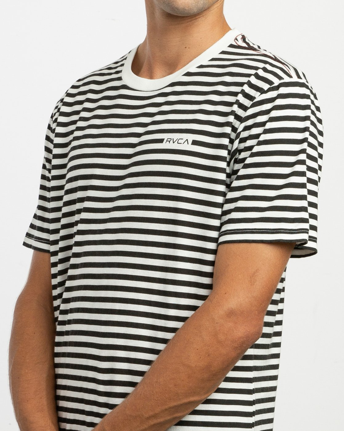 4 House Stripes T-Shirt White M430TRHO RVCA