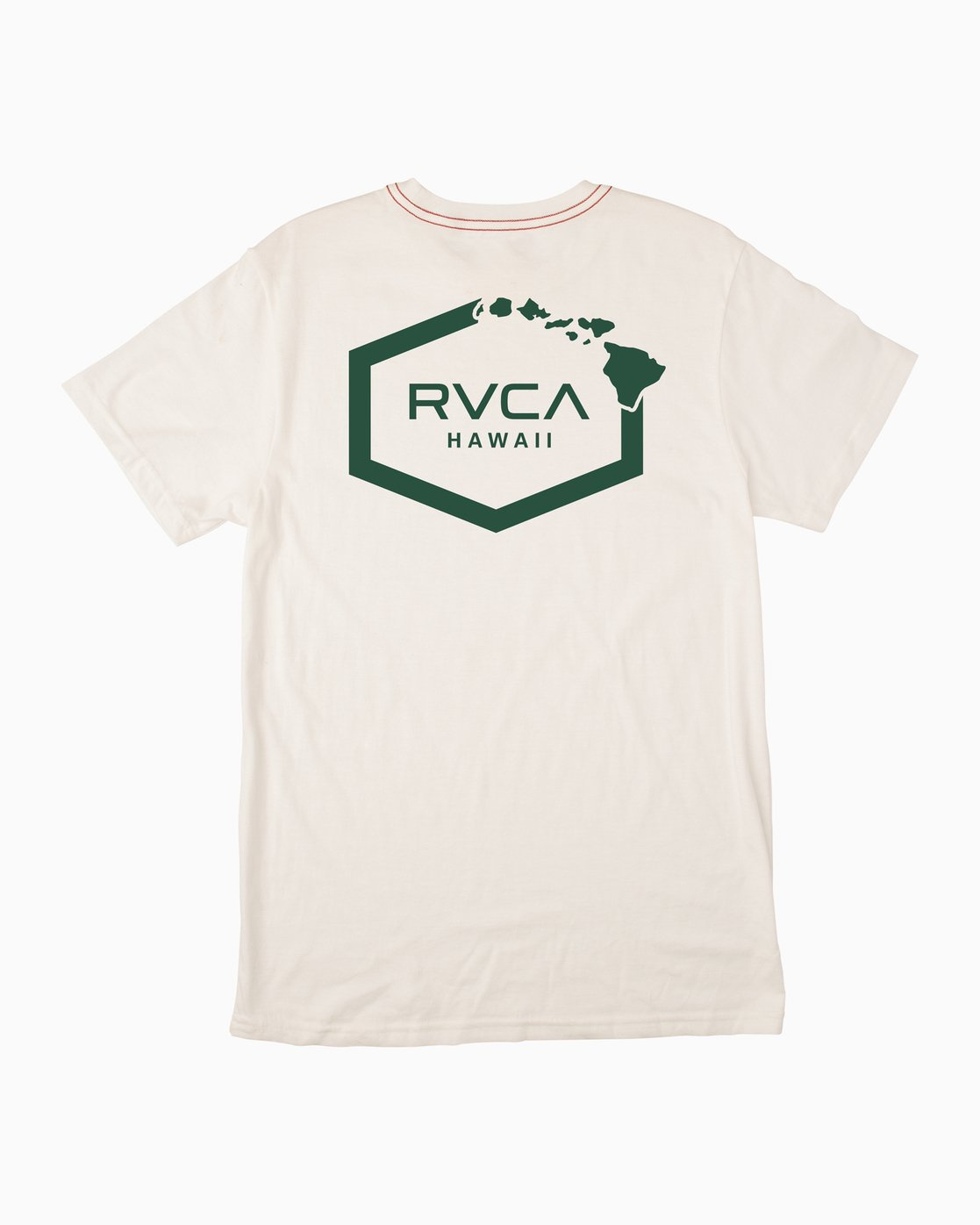 0 Islands Hex Hawaii T-Shirt White M430TRIS RVCA