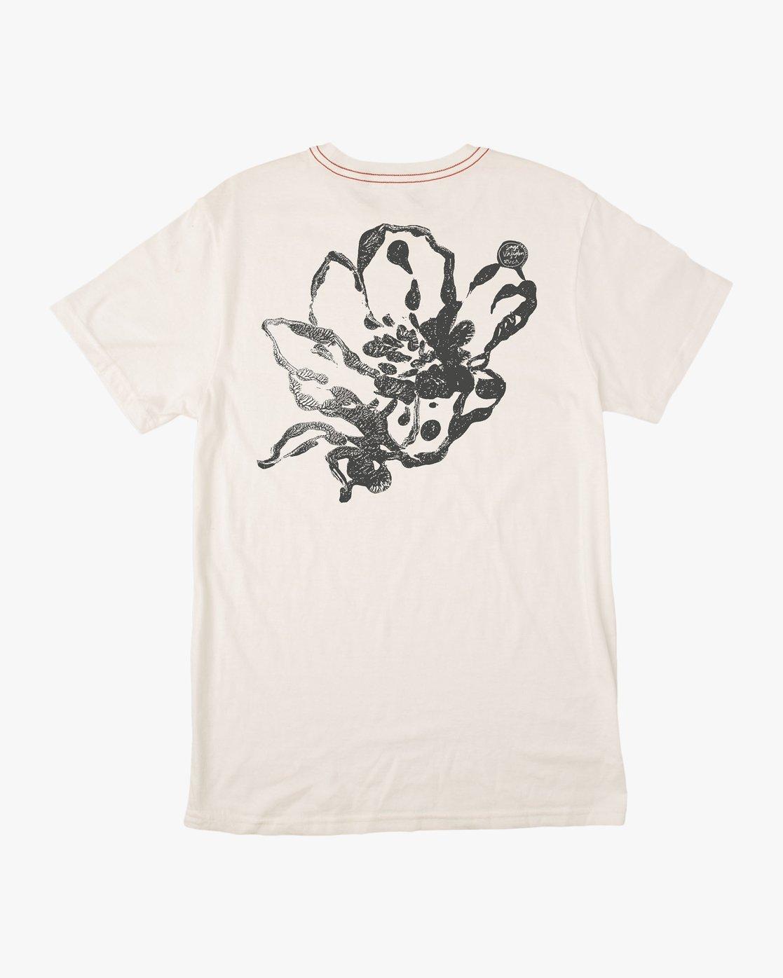 0 Sage Vaughn Mono Flower T-Shirt White M430TRMO RVCA
