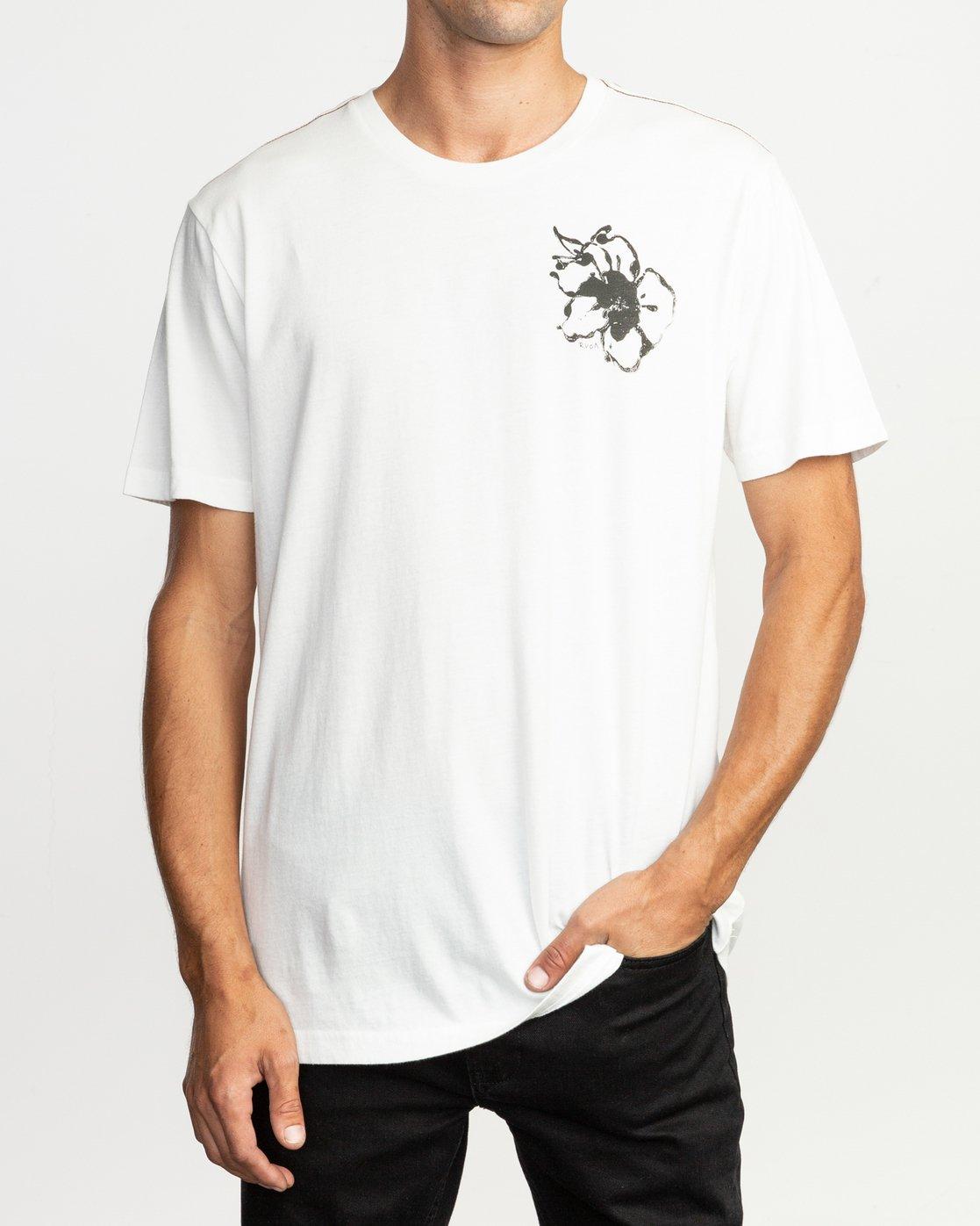 3 Sage Vaughn Mono Flower T-Shirt White M430TRMO RVCA