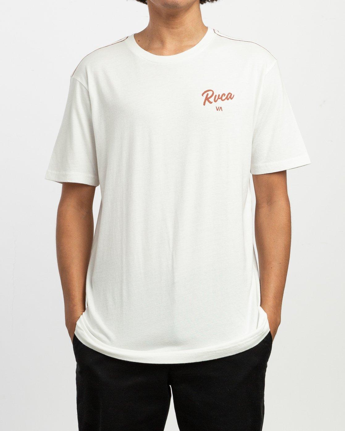 2 Postmark T-Shirt White M430TRPO RVCA
