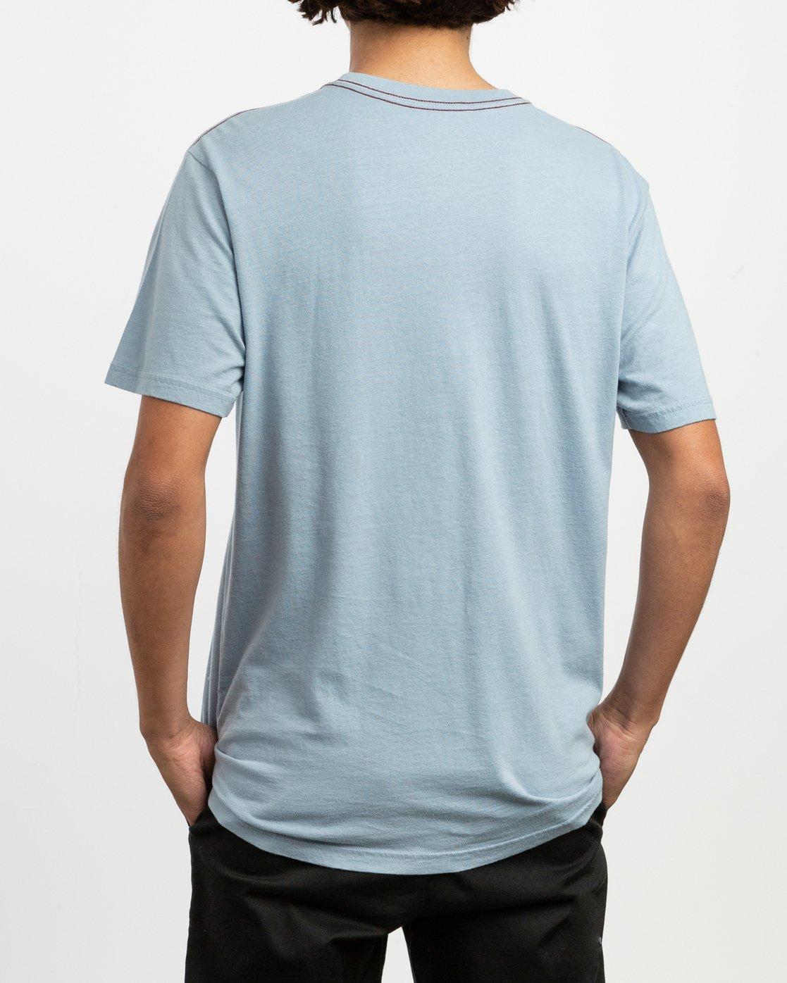 3 Rust Belt Embroidered T-Shirt Blue M430TRRU RVCA