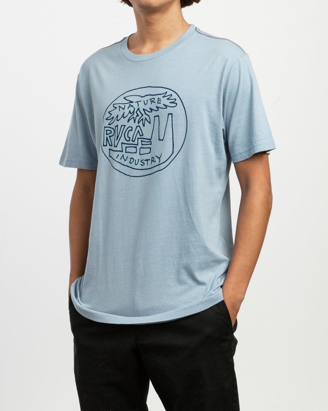 2 Rust Belt Embroidered T-Shirt Blue M430TRRU RVCA