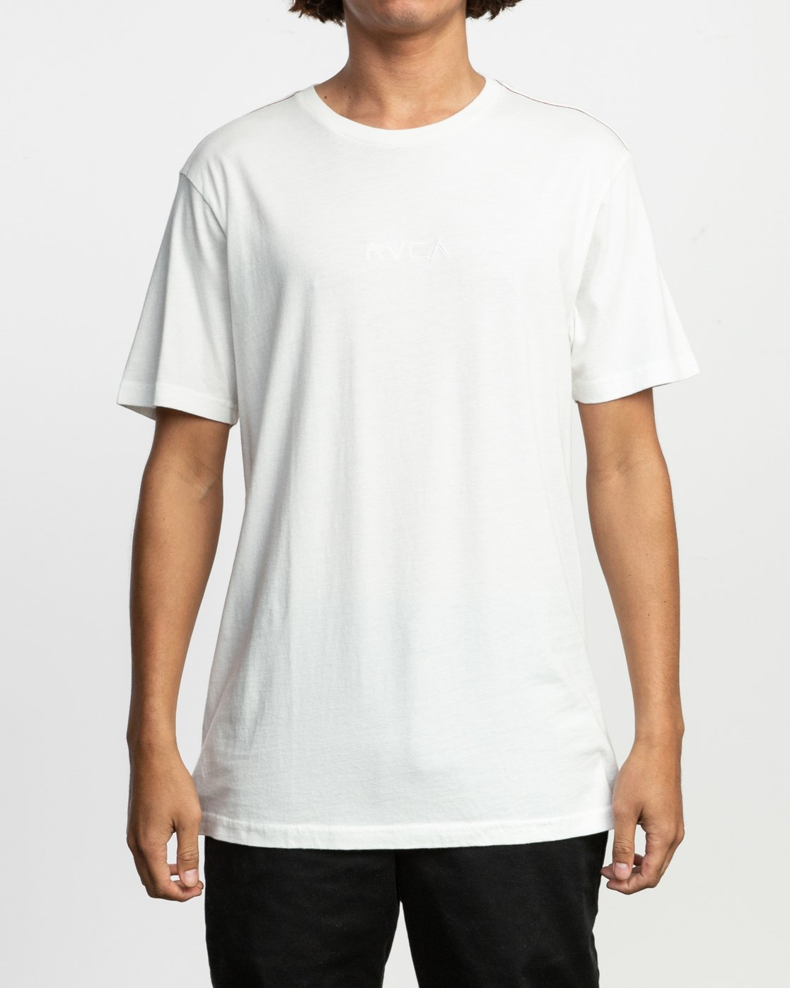 1 Small RVCA Embroidered T-Shirt White M430TRSM RVCA