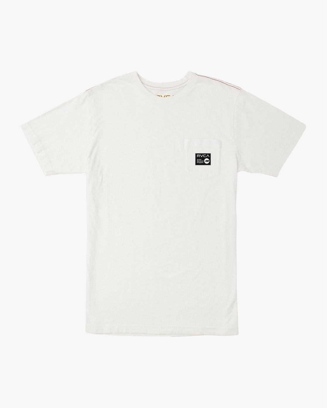 0 ANP Pocket T-Shirt White M436TRAN RVCA