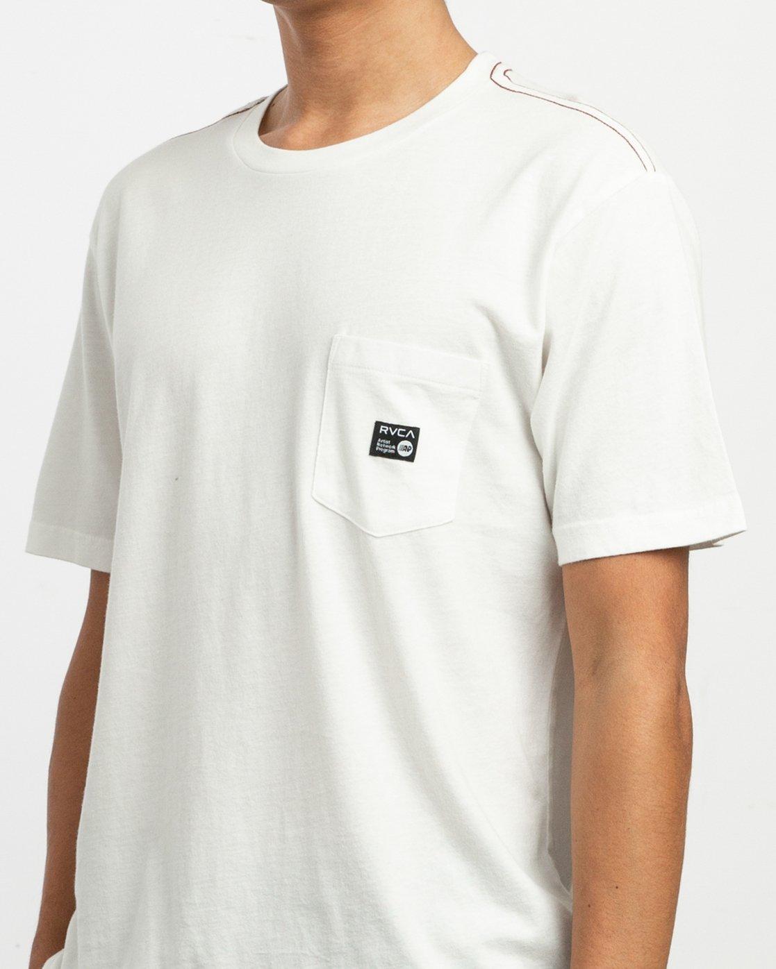4 ANP Pocket T-Shirt White M436TRAN RVCA