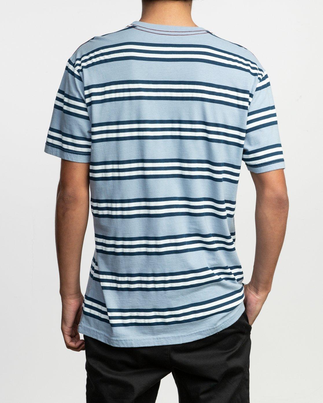 3 Ferris Striped T-Shirt Blue M436TRFE RVCA
