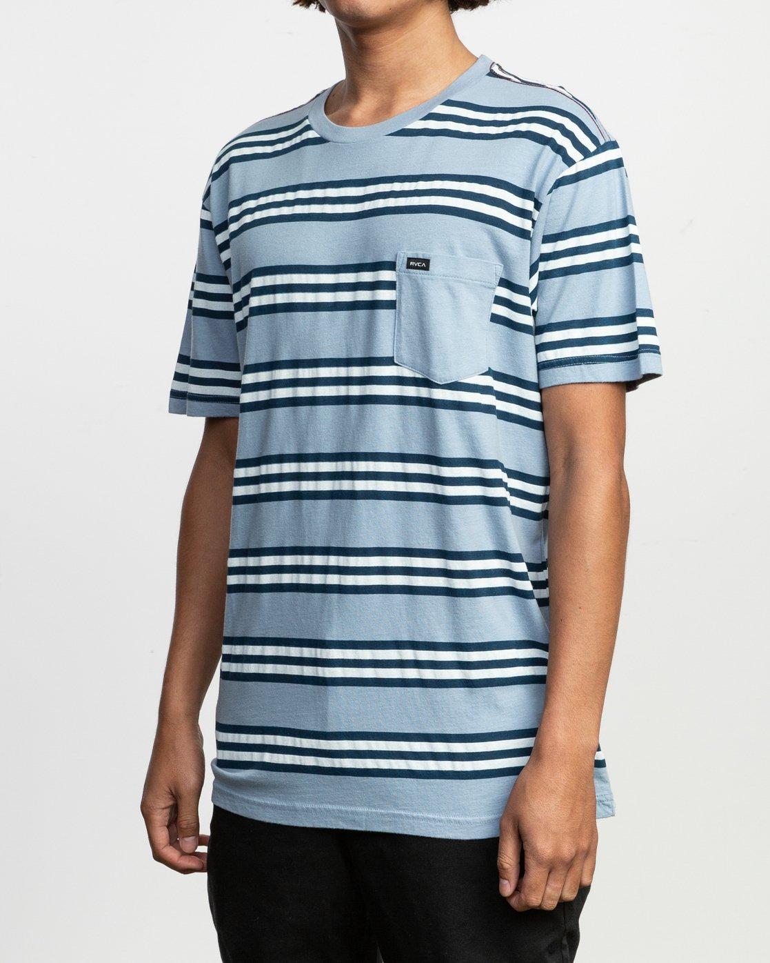 2 Ferris Striped T-Shirt Blue M436TRFE RVCA
