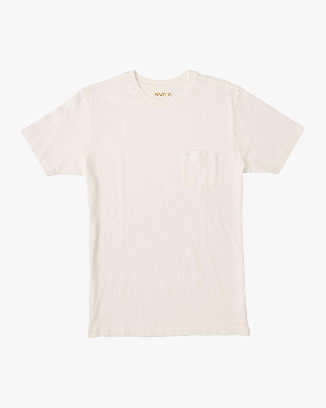 0 PTC Standard Wash Pocket T-Shirt White M436TRPT RVCA