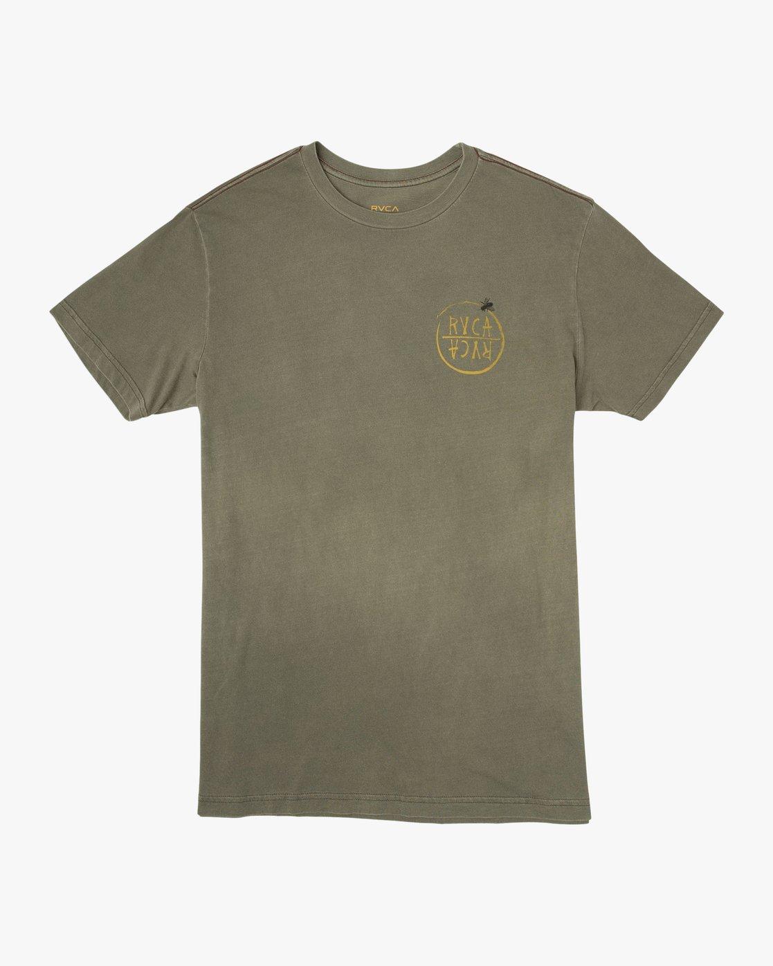 1 Ben Horton Hivemind T-Shirt Green M438TRHI RVCA