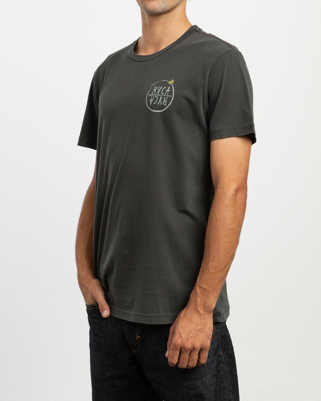 3 Ben Horton Hivemind T-Shirt Black M438TRHI RVCA