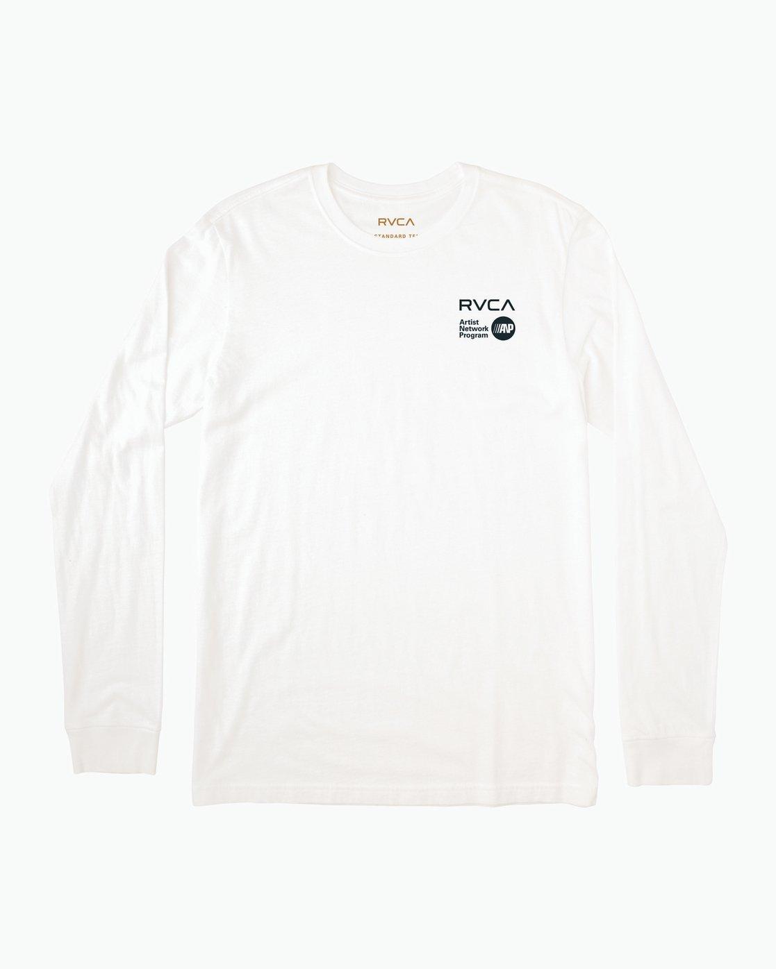 1 Matus Fire Dance Long Sleeve T-Shirt White M451SRFI RVCA