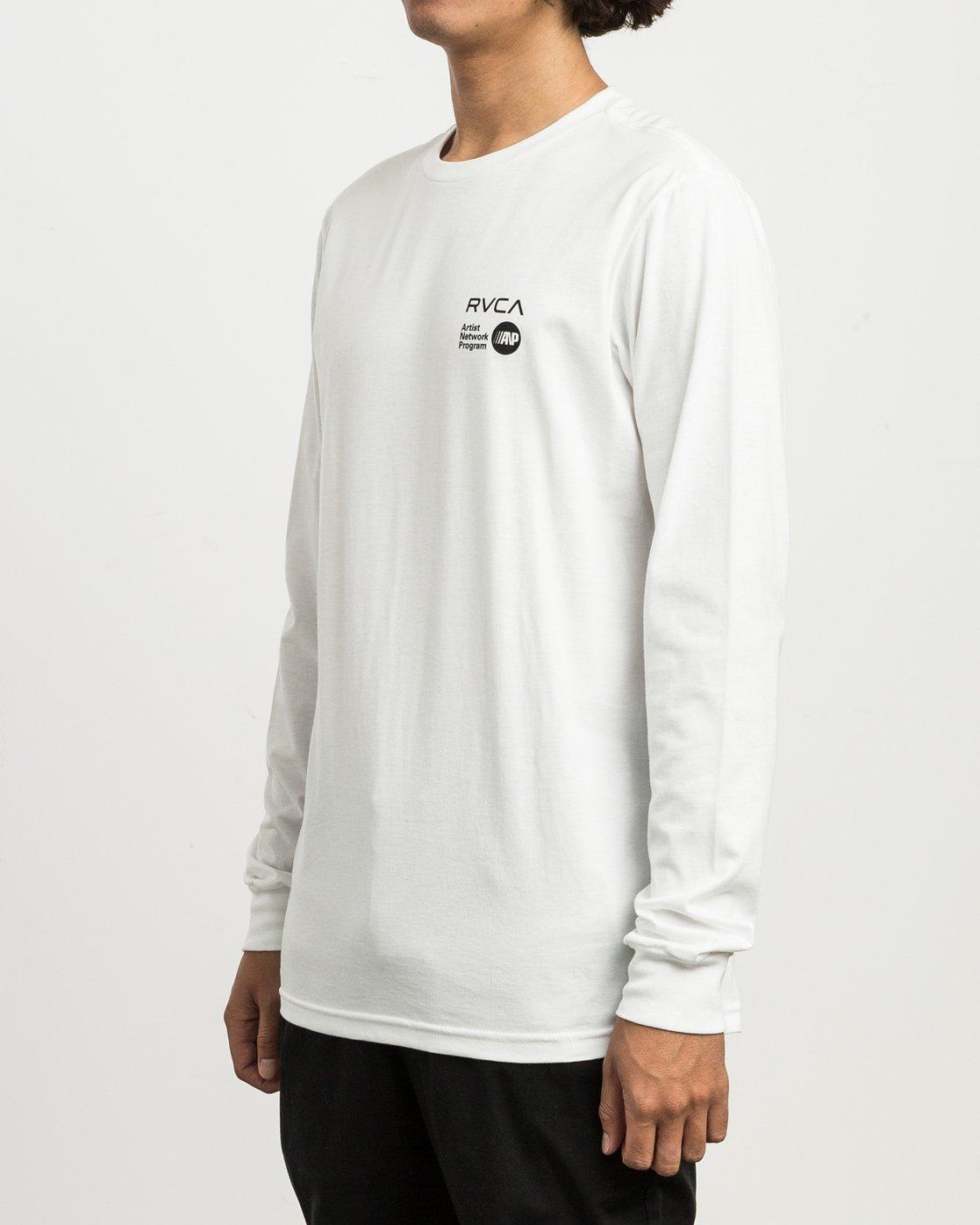 3 Matus Fire Dance Long Sleeve T-Shirt White M451SRFI RVCA
