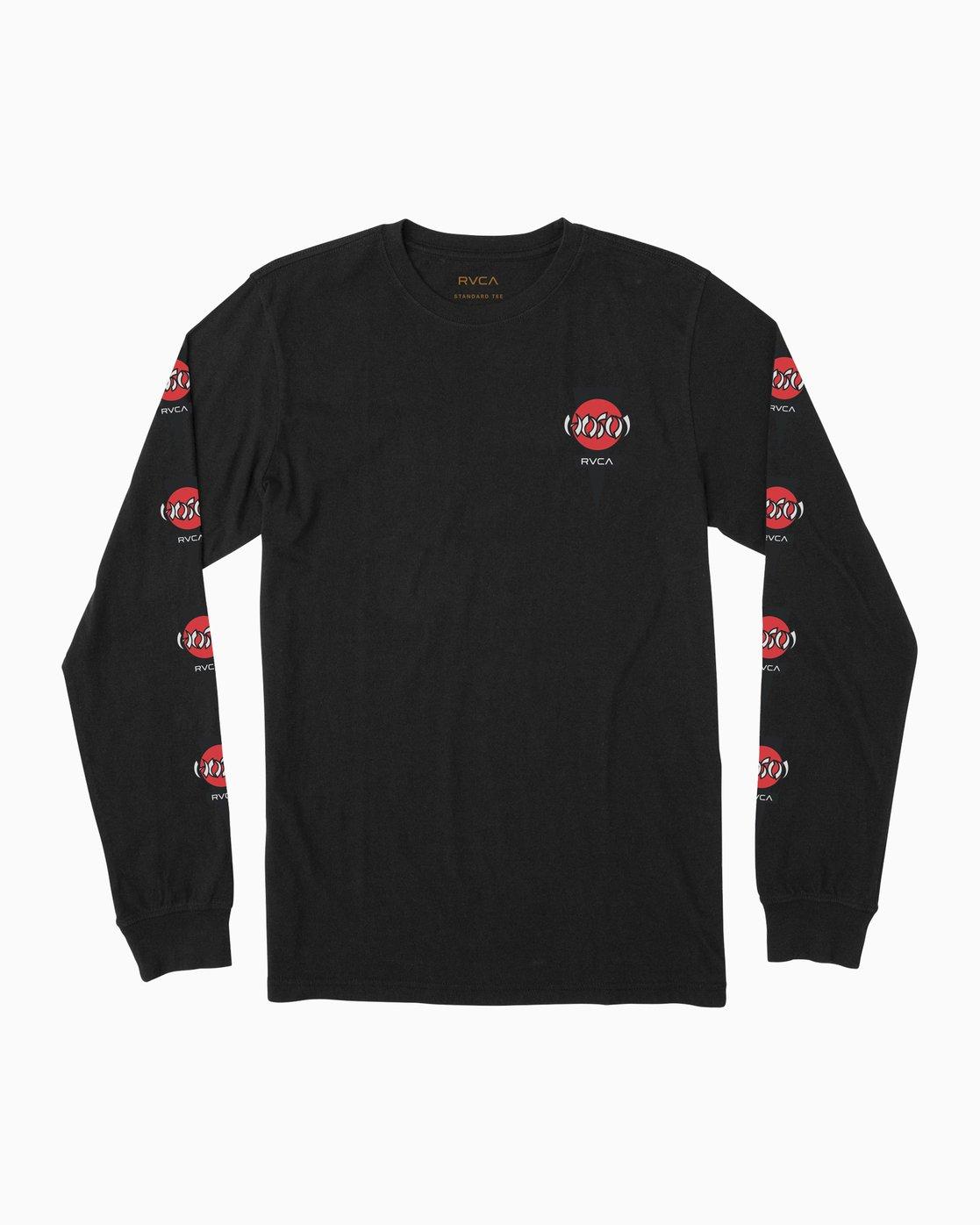 0 Christian Hosoi Long Sleeve T-Shirt Black M451SRHS RVCA