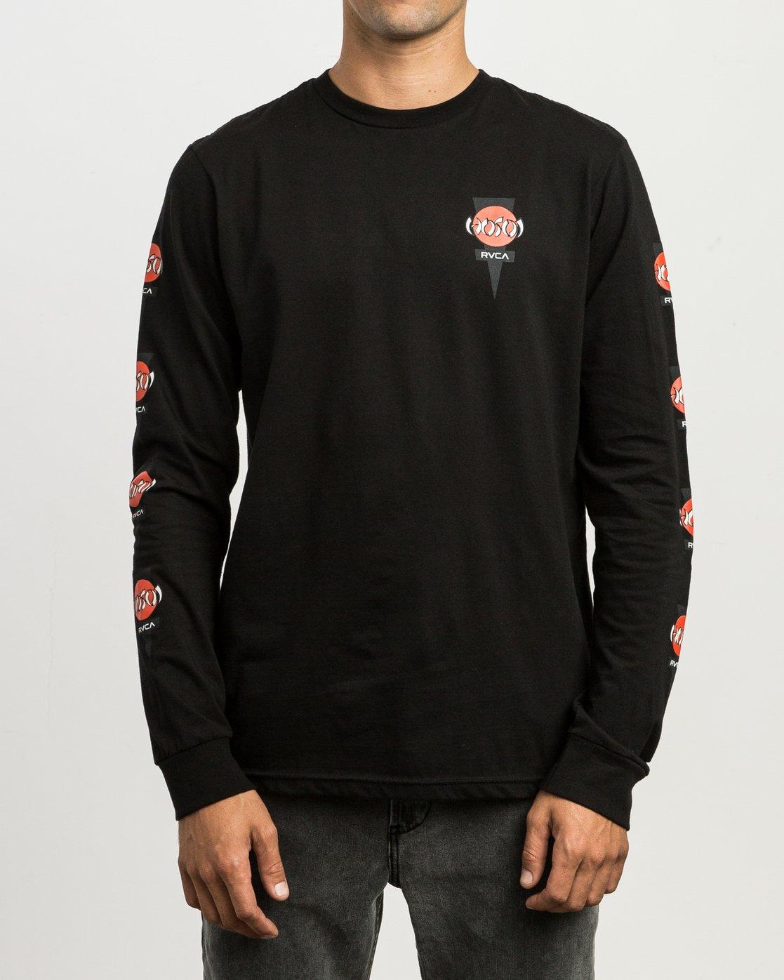 2 Christian Hosoi Long Sleeve T-Shirt Black M451SRHS RVCA