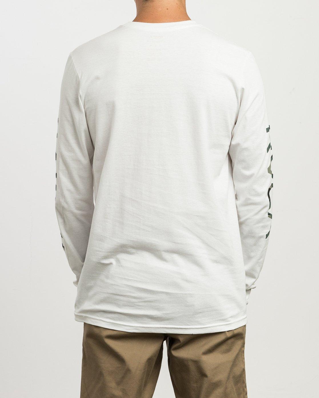3 VA Islands Long Sleeve T-Shirt White M451SRIS RVCA