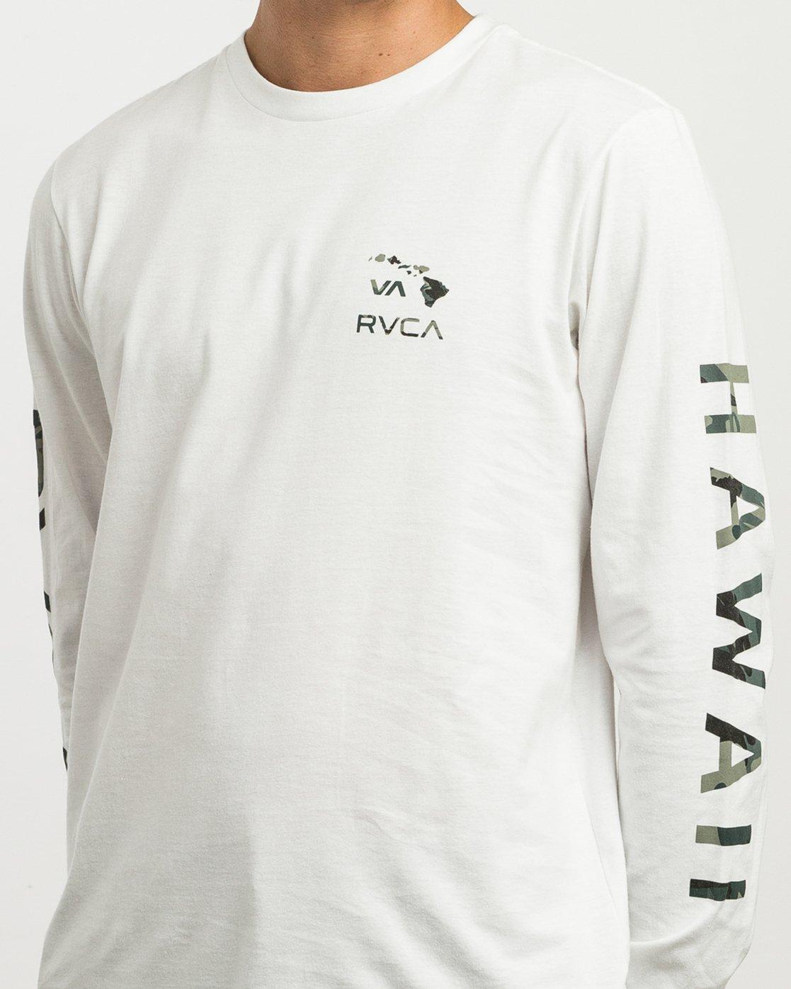 4 VA Islands Long Sleeve T-Shirt White M451SRIS RVCA