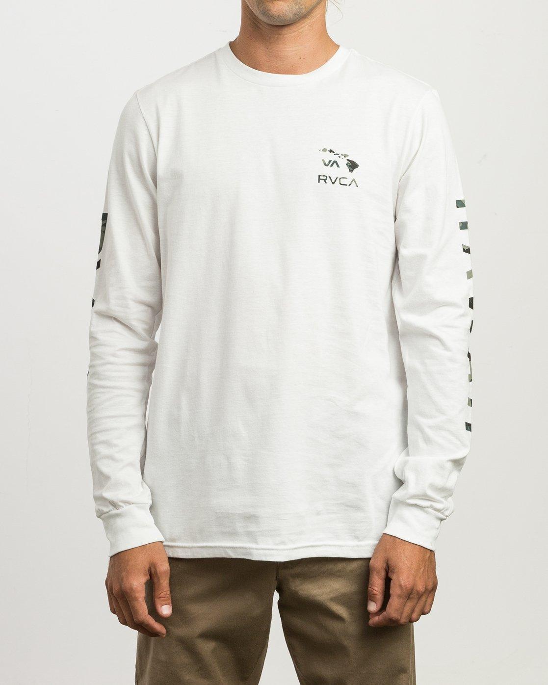 1 VA Islands Long Sleeve T-Shirt White M451SRIS RVCA