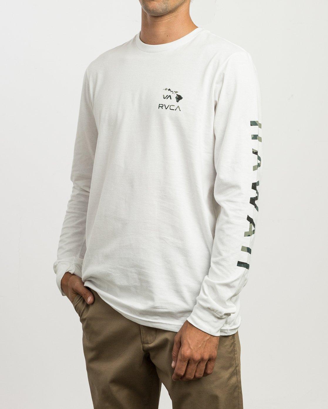 2 VA Islands Long Sleeve T-Shirt White M451SRIS RVCA