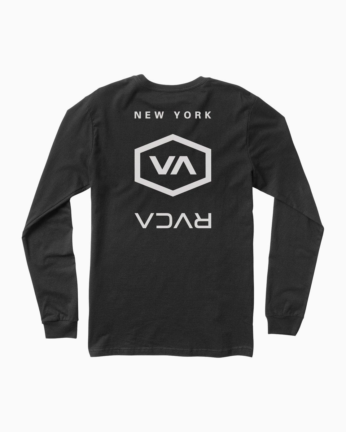 0 Hex Type NY Long Sleeve T-Shirt Black M451SRNE RVCA