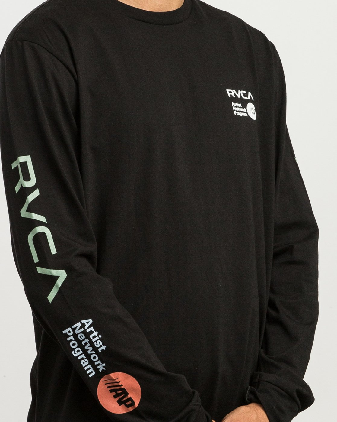 5 RVCA ANP Long Sleeve T-Shirt Black M451SRRV RVCA