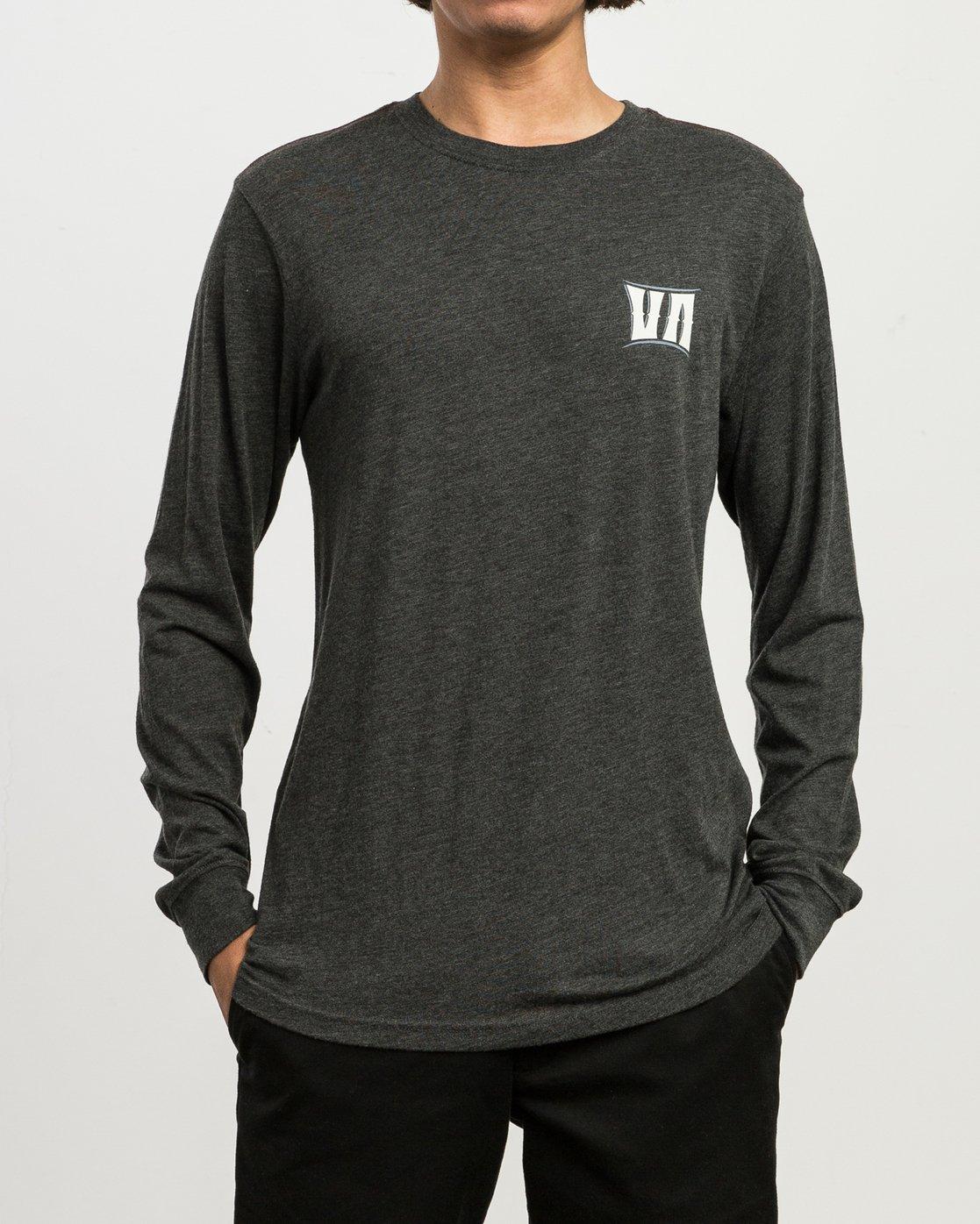 2 Sagebrush Long Sleeve T-Shirt Black M452SRSA RVCA