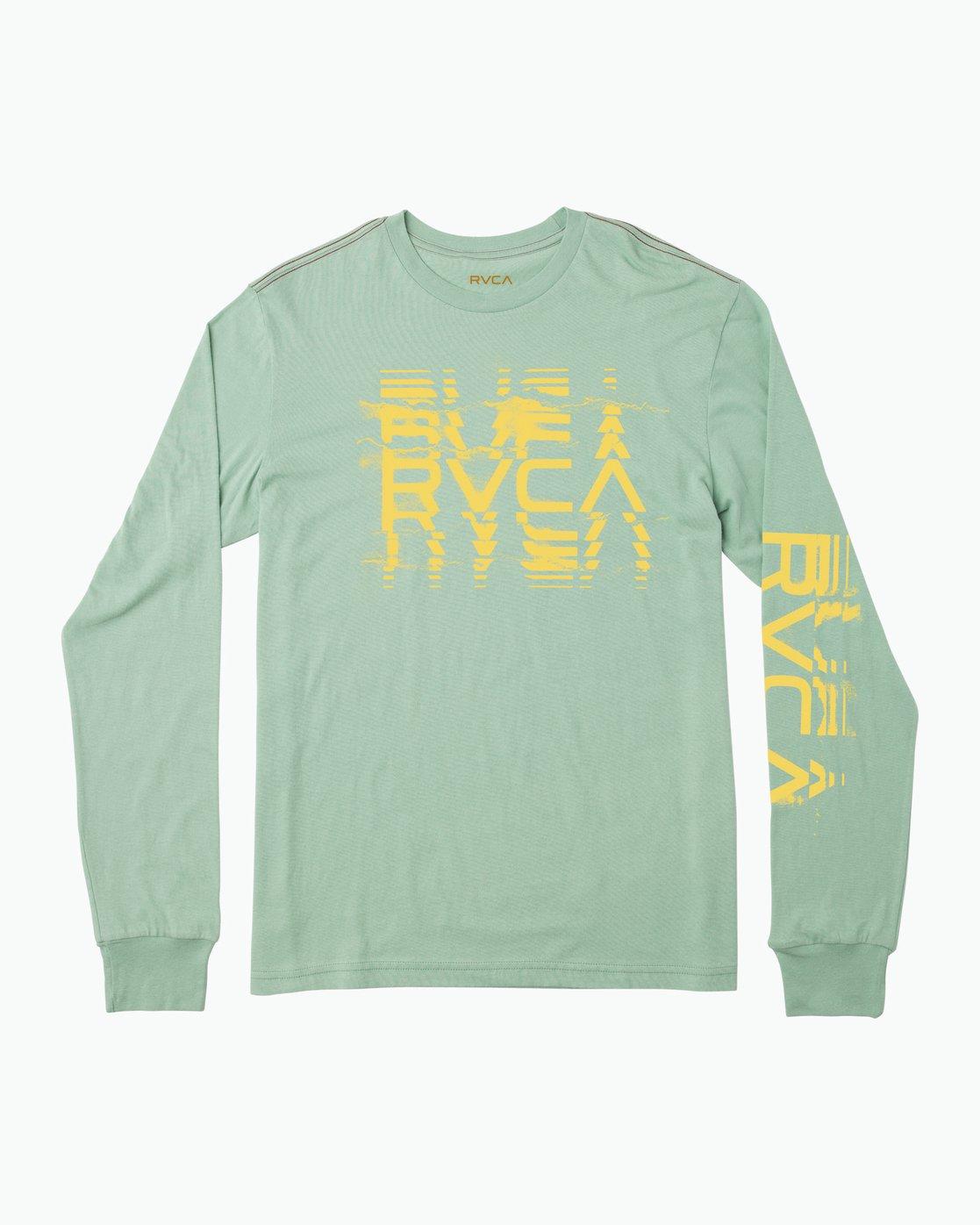 0 Big Torn Long Sleeve T-Shirt Green M453PRBI RVCA