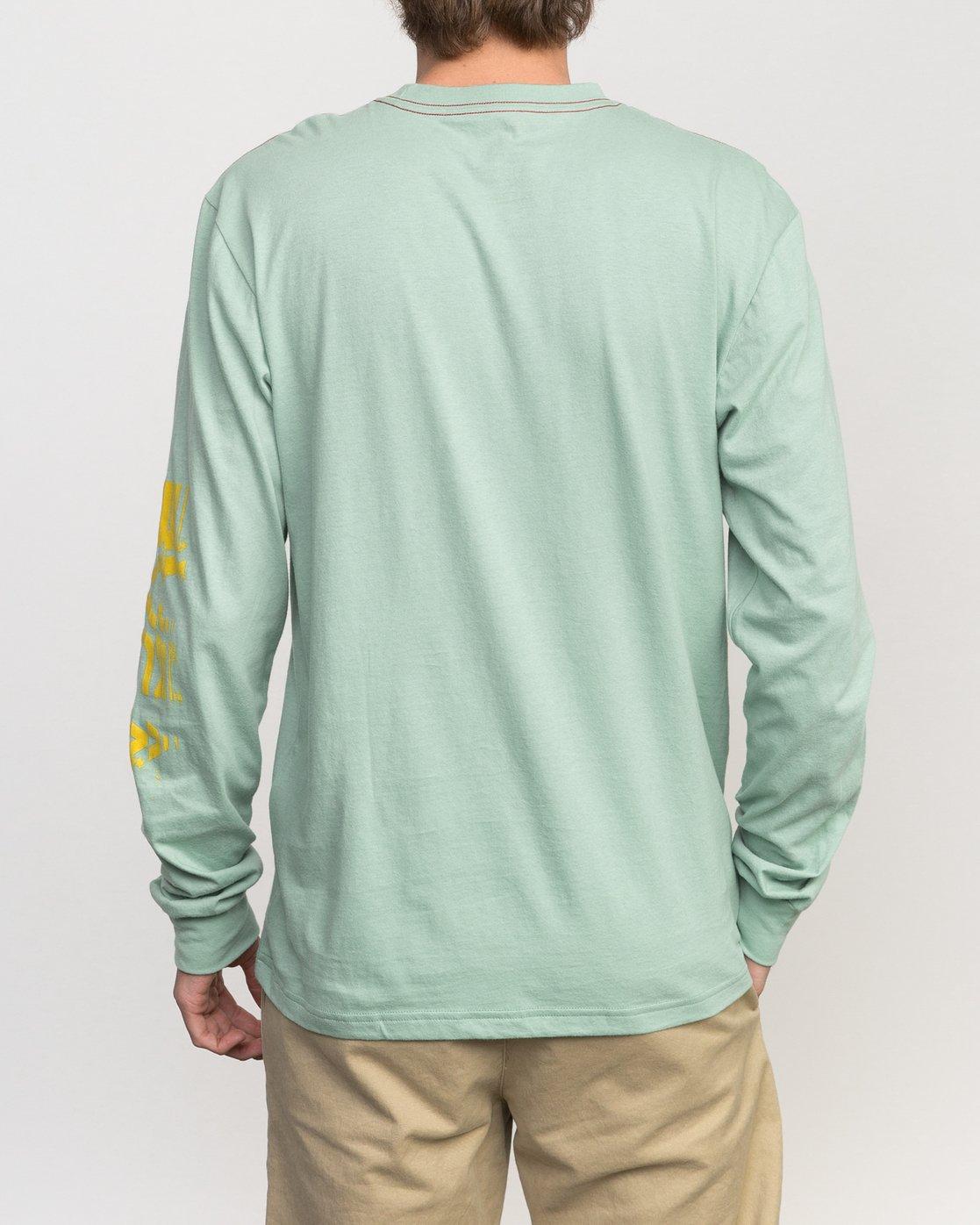 3 Big Torn Long Sleeve T-Shirt Green M453PRBI RVCA