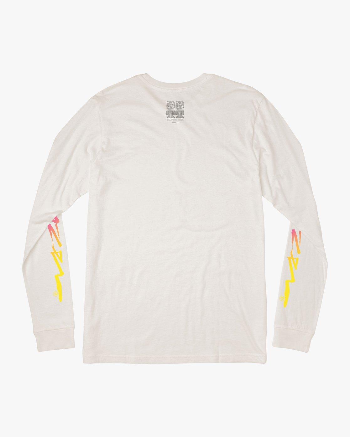 1 Campbell Bros Long Sleeve T-Shirt White M453QRCA RVCA