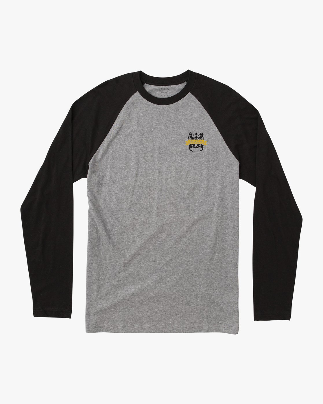 0 Chest Crest Raglan T-Shirt Black M454QRCH RVCA