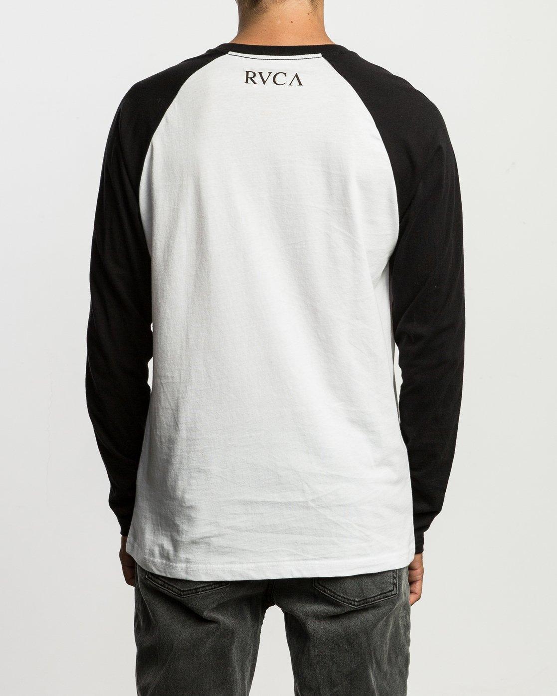 4 Mistress Baseball Raglan T-Shirt White M454SRMI RVCA