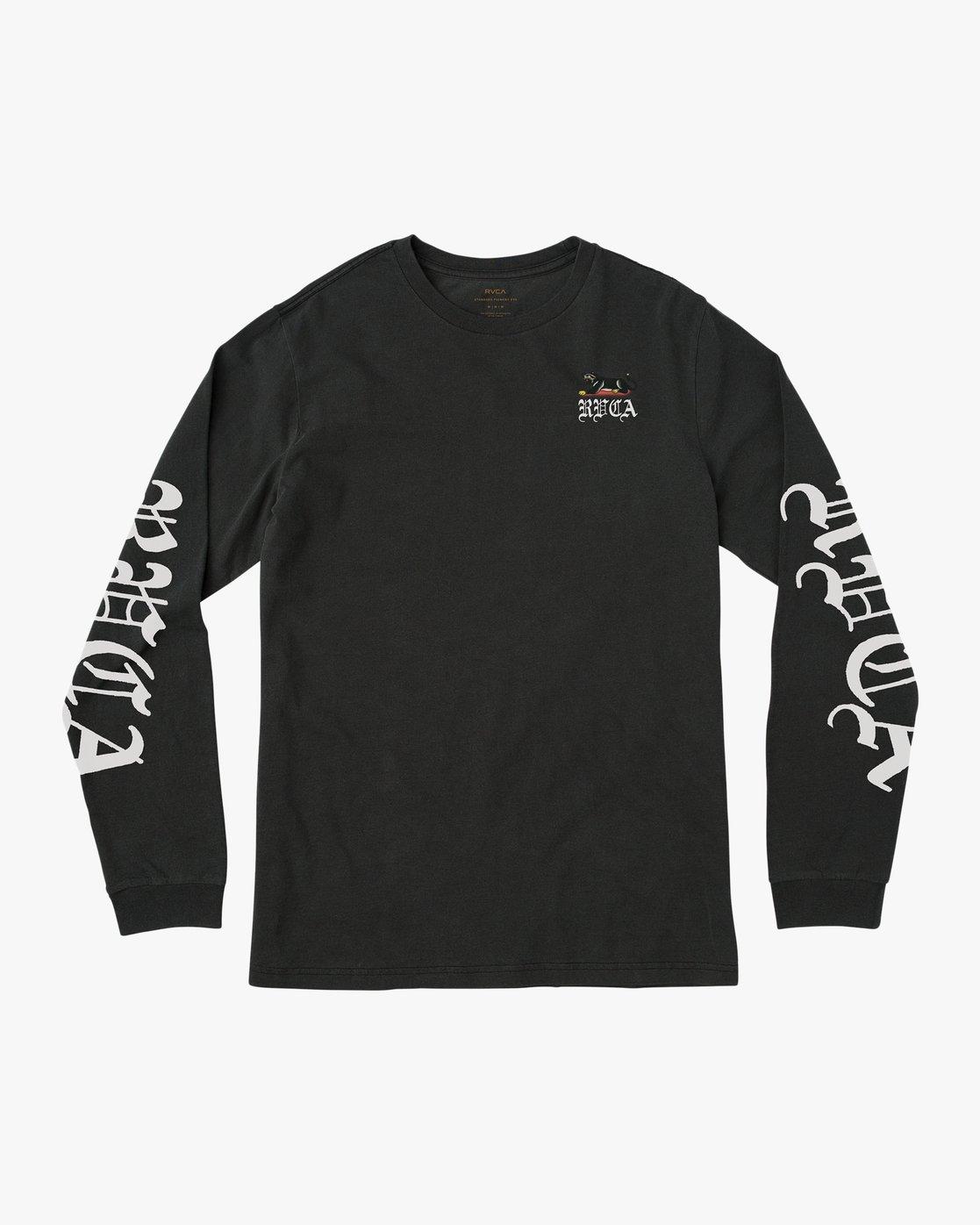 1 Bert Krak Double Skull T-Shirt Black M456QRDO RVCA