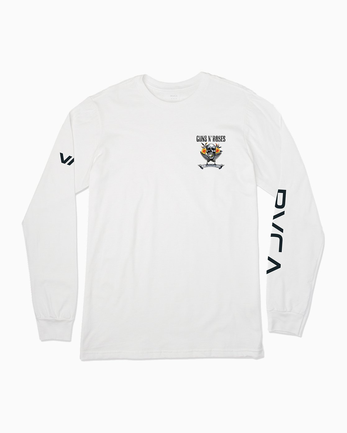 1 Axis Guns N Roses Long Sleeve T-Shirt White M459SRAX RVCA