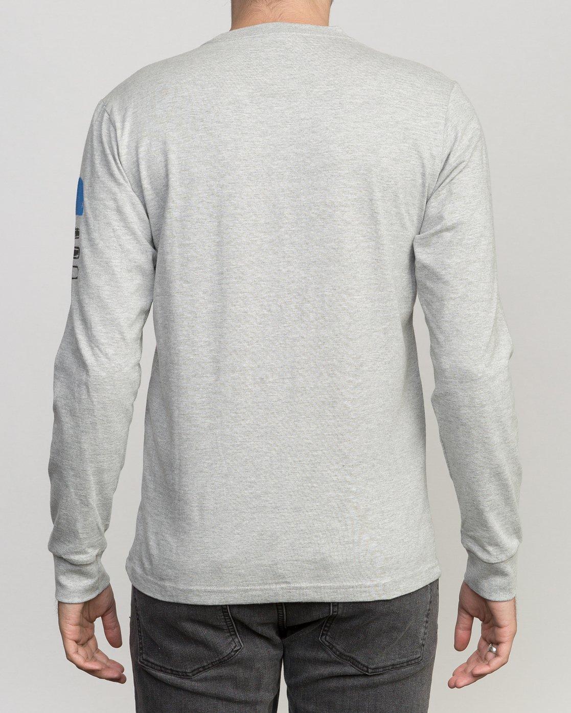 3 Block Print Long Sleeve T-Shirt Grey M460PRBL RVCA