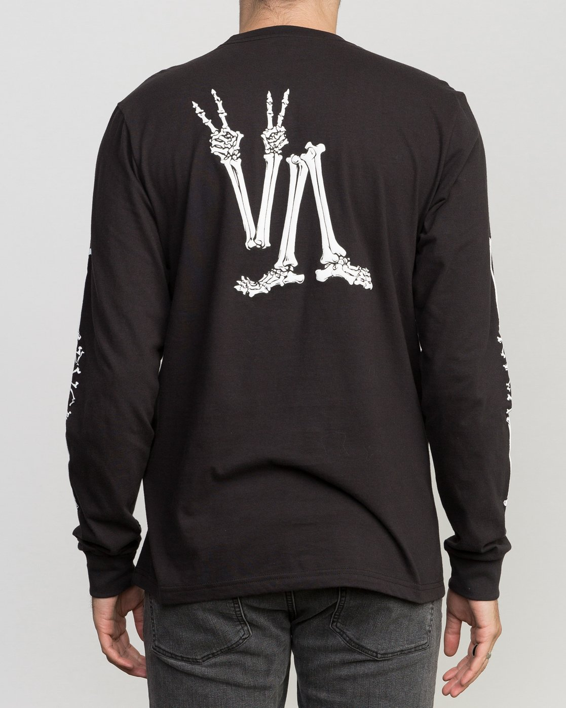 4 Bonezy Long Sleeve T-Shirt Black M460PRBO RVCA