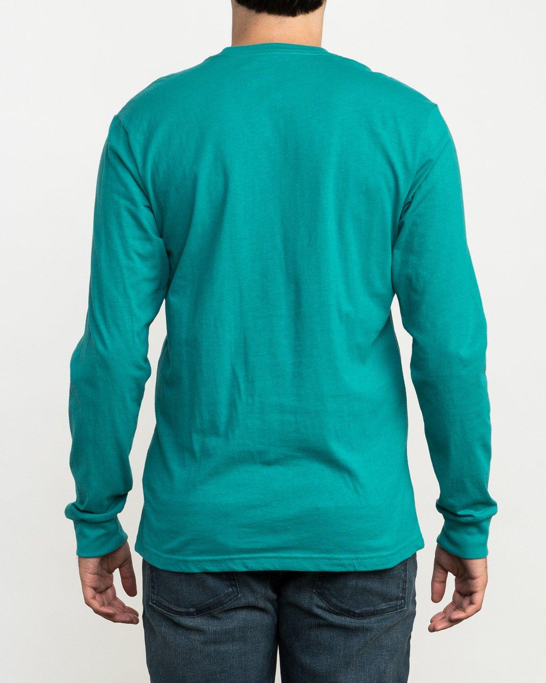 3 Pinner Long Sleeve T-Shirt Green M460QRRV RVCA
