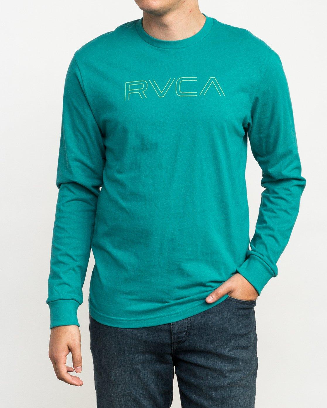1 Pinner Long Sleeve T-Shirt Green M460QRRV RVCA