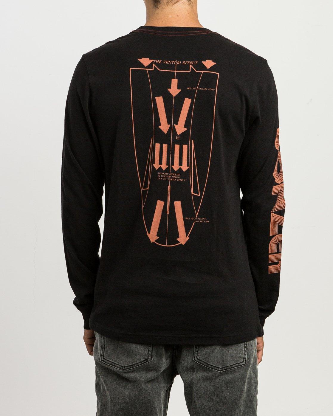 3 Campbell Venturi Long Sleeve T-Shirt Black M463SRVE RVCA