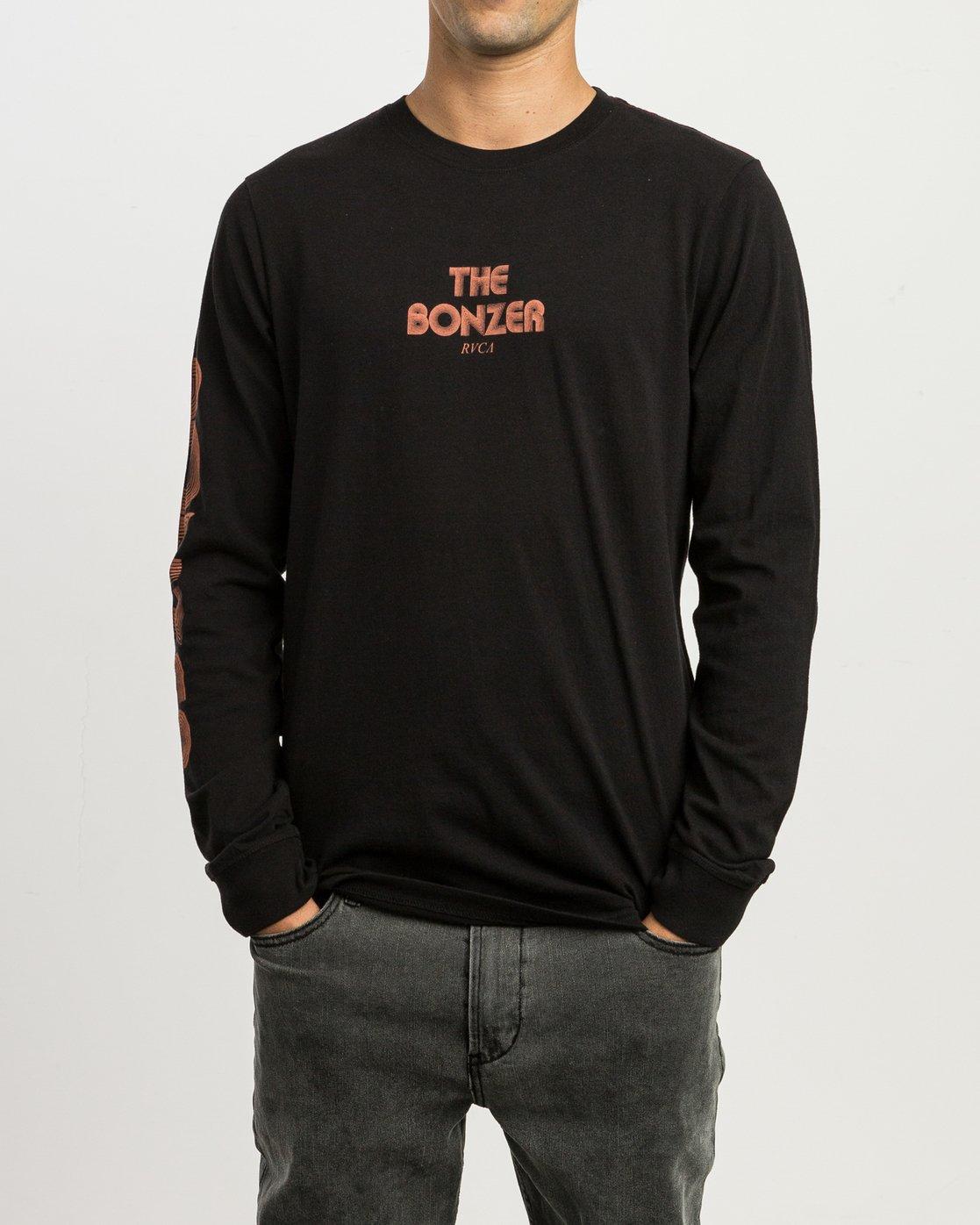 2 Campbell Venturi Long Sleeve T-Shirt Black M463SRVE RVCA