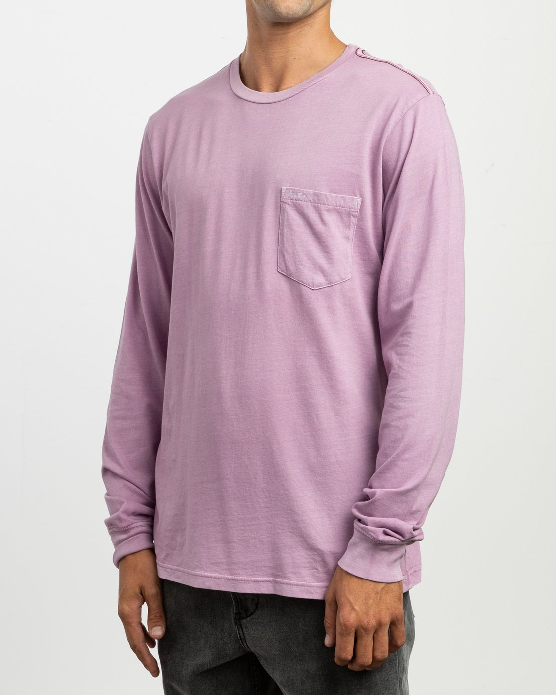 2 PTC Pigment Long Sleeve T-Shirt Purple M467TRPT RVCA